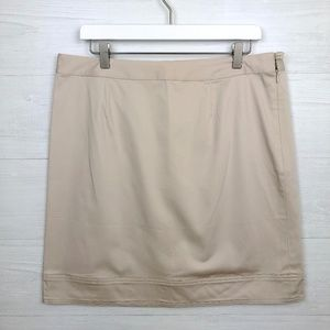 Brooks Brothers Tan Almost Knee Length Skirt 12